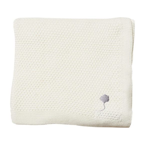 The Maeve Blanket in Cotton, Cumulus White