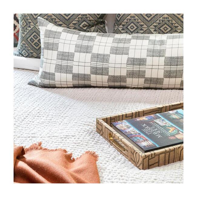 Quilt Blanket, Flax Linen Kantha