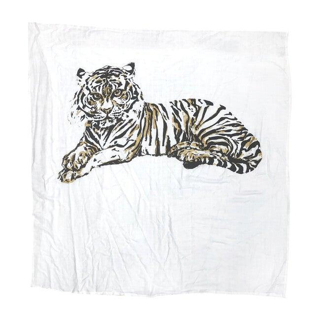 Organic Cotton Gauze Swaddle, Tiger