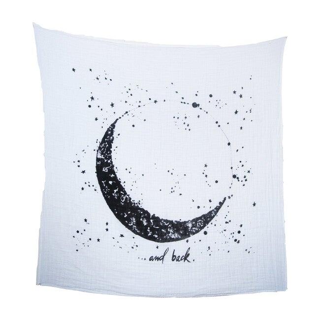 Organic Cotton Gauze Swaddle, Moon & Back