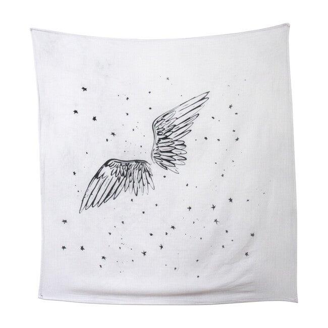 Organic Cotton Gauze Swaddle, Angel Wings