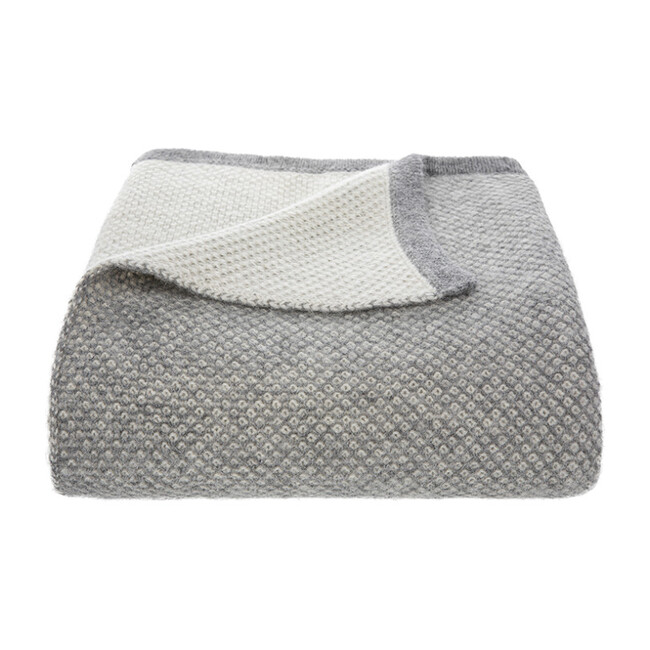 Qori Reversible Knitted Throw, Grey