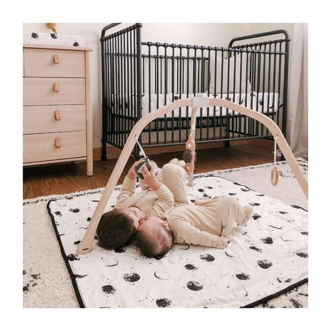 Organic Knit Nursery Blanket, Many Moons