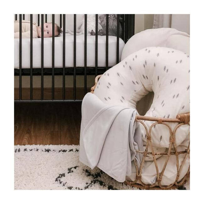Organic Knit Nursery Blanket, Desert Mist