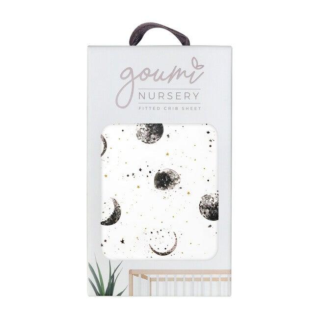 Organic Knit Crib Sheet, Many Moons