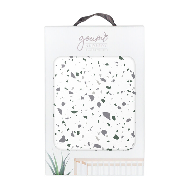 Organic Knit Changing Pad Cover, Terrazzo