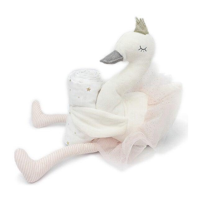 Plush Swan & Muslin Gift Set