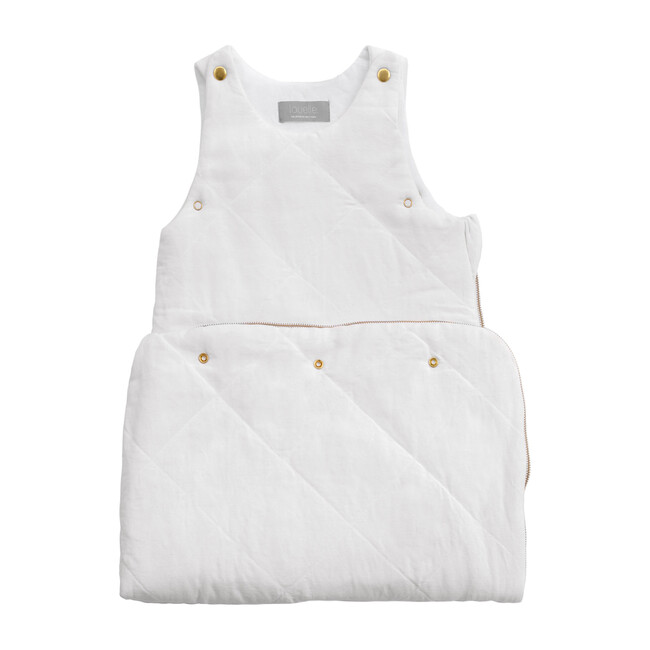 Quilted Sleeping Bag, White Linen