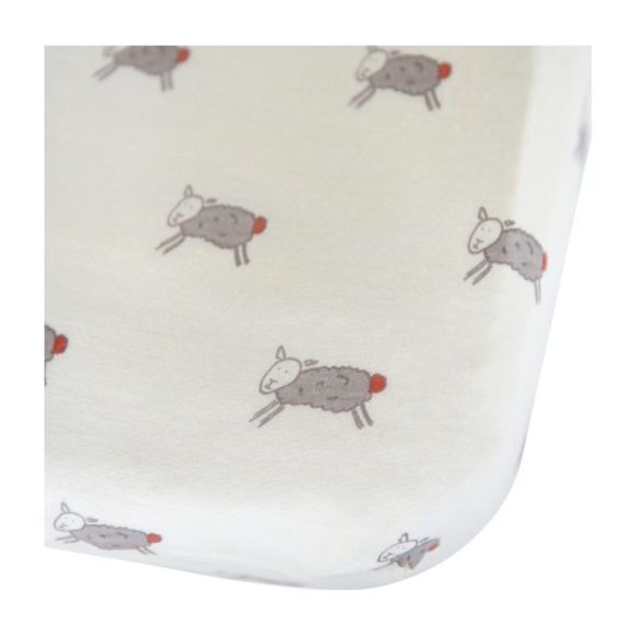 Merino Wool Crib Sheet, Happy Sheep - Crib Sheets - 1