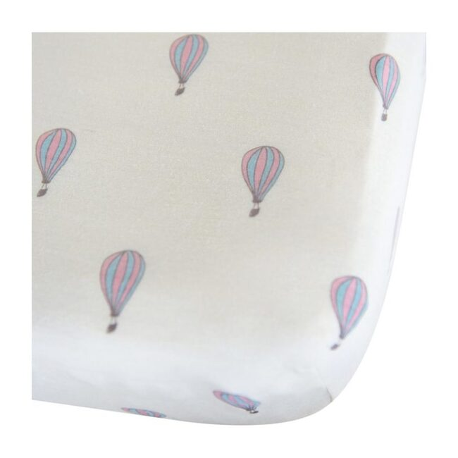 Merino Wool Crib Sheet, Hot Air Balloons