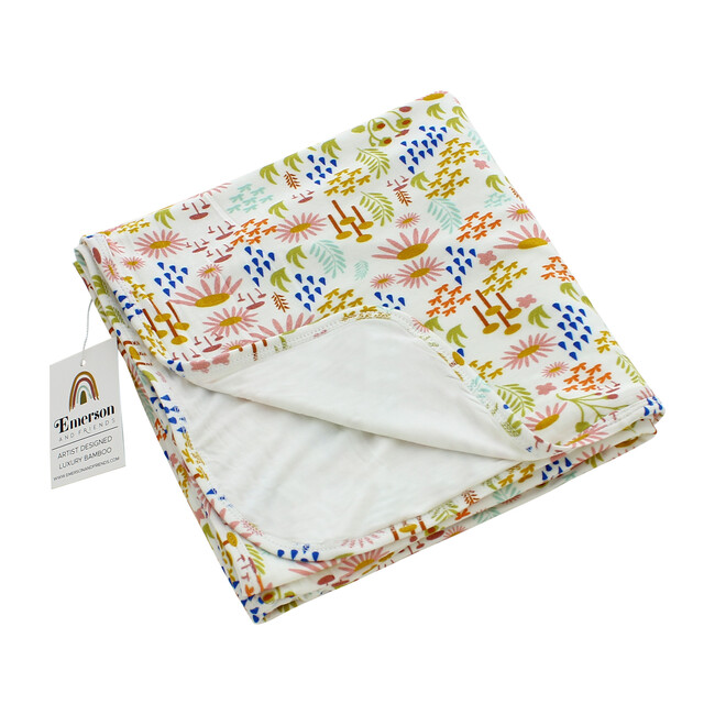 Luxury Bamboo Blanket, Forest Floral