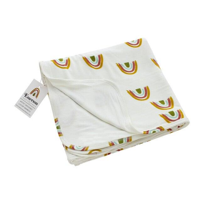 Luxury Bamboo Blanket, Earthtone Rainbow - Blankets - 1