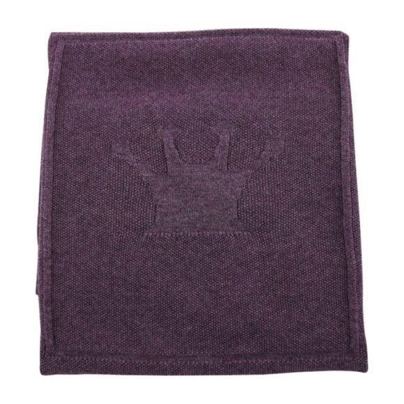 Merino Wool Little Crown Blanket, Purple