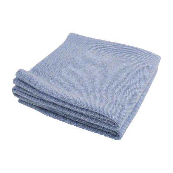 Merino Wool Little Crown Blanket, Blue