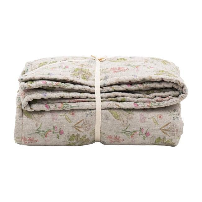 Linen Quilted Blanket, Botany