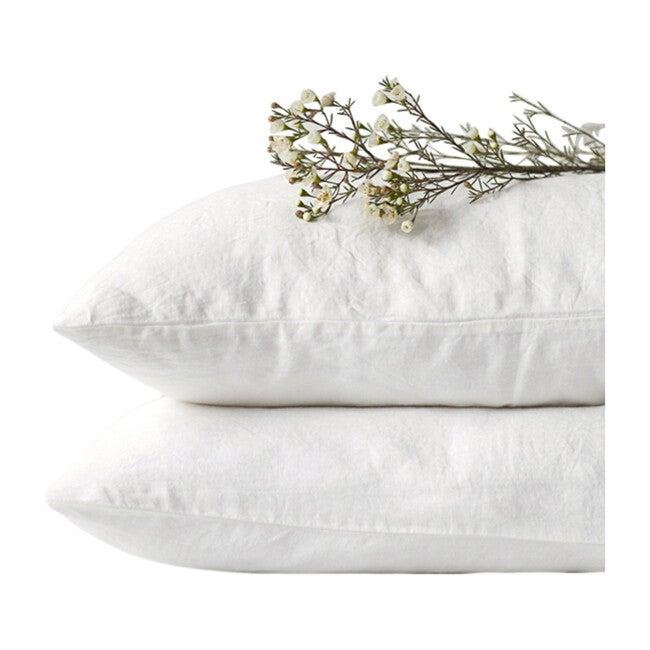 Linen Pillowcase, White