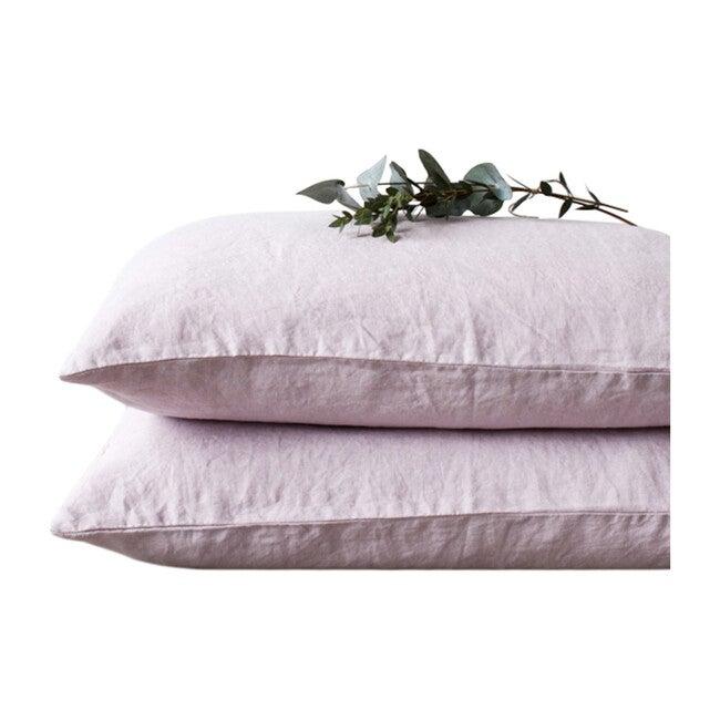 Linen Pillowcase, Pink Lavender - Pillows - 1