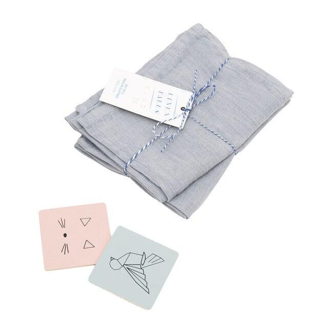 Set of 2 Muslin Cloth, Light Grey