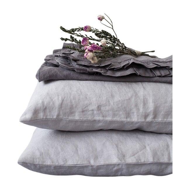 Linen Pillowcase, Light Grey