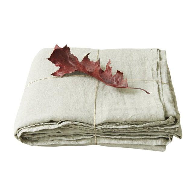 Linen Flat Sheet, Sage
