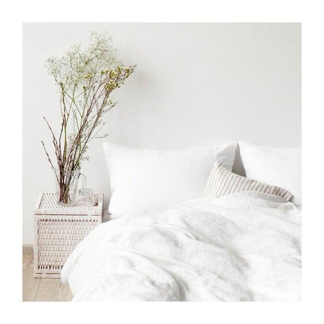 Linen Flat Sheet, White