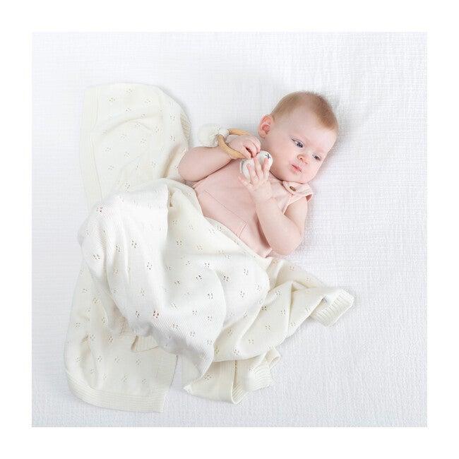 Organic Cotton Clover Knit Baby Gift Set, Soft White
