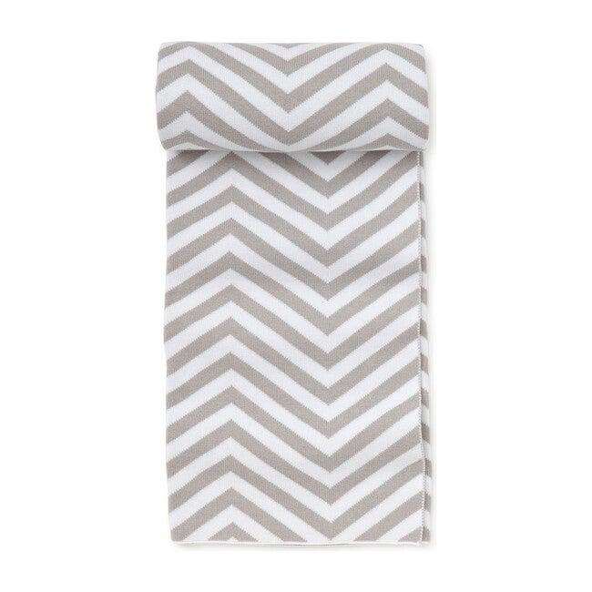 Chevron Novelty Blanket, Grey