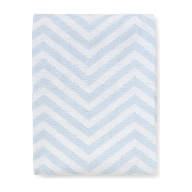 Chevron Novelty Blanket, Blue