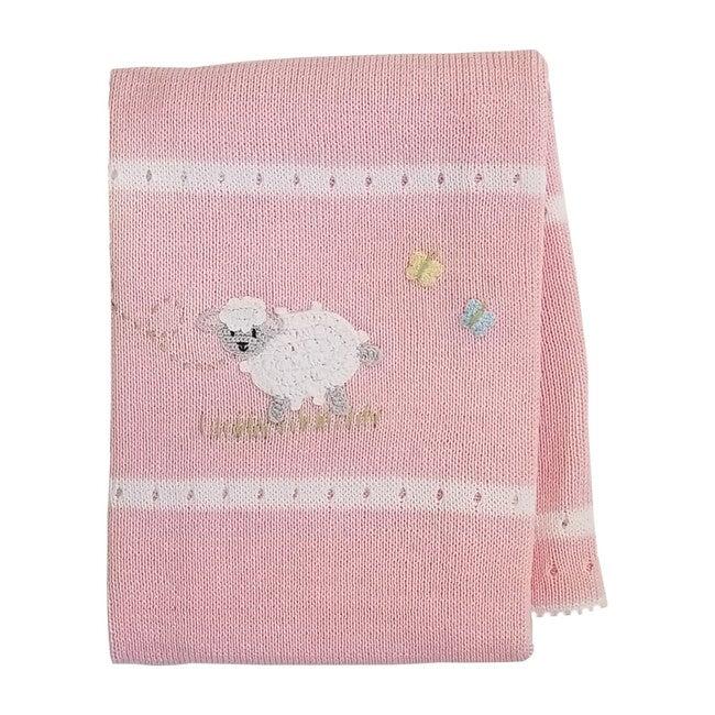 Lamb Baby Blanket, Pink