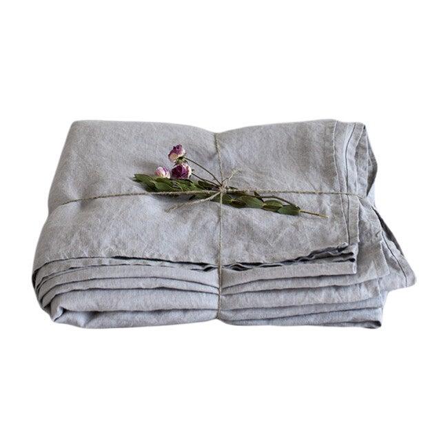 Linen Flat Sheet, Light Grey