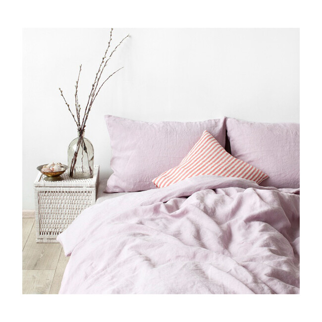 Linen Duvet Cover, Pink Lavender