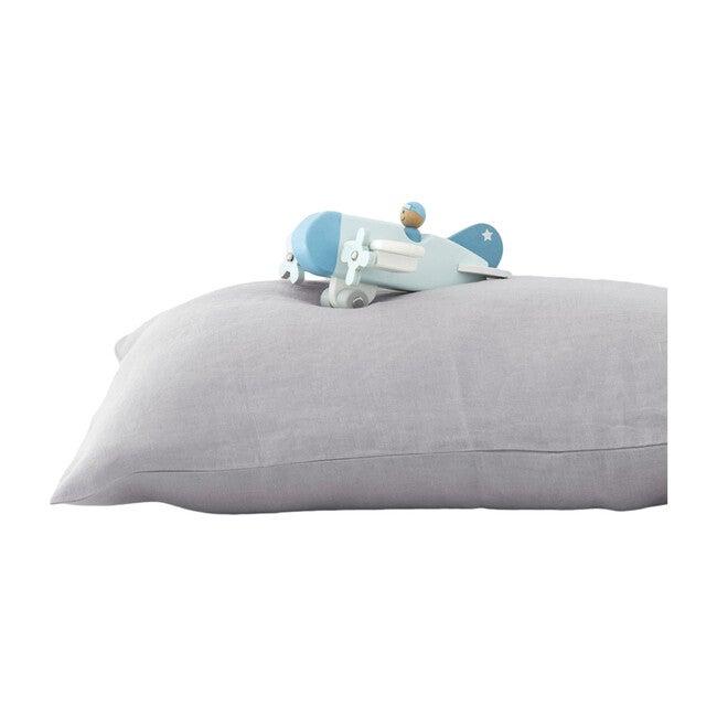 Kids Linen Pillowcase, Light Grey