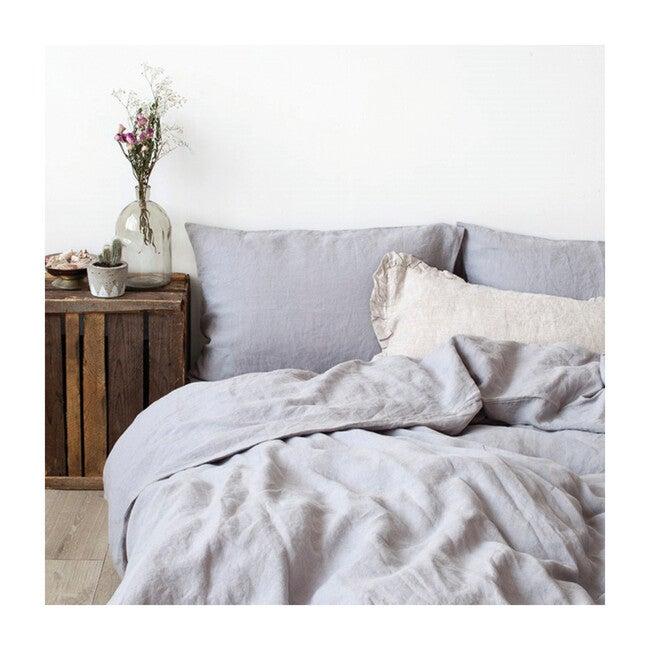 Linen Duvet Cover, Light Grey