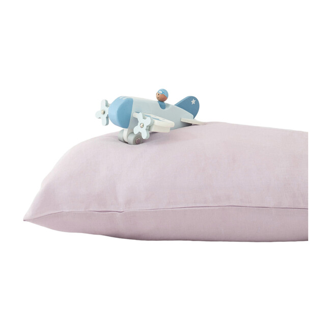 Kids Linen Pillowcase, Pink Lavender