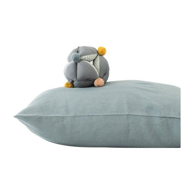 Kids Linen Pillowcase, Blue Fog
