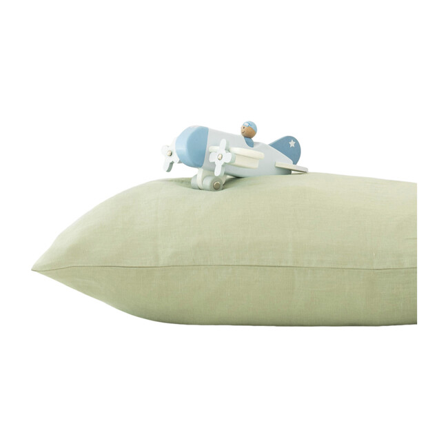 Kids Linen Pillowcase, Sage