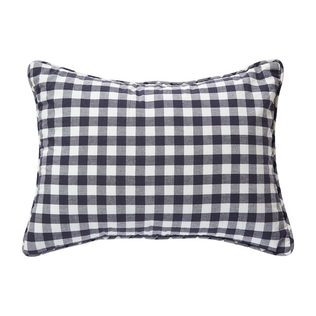 Check Mate Nursery Pillow, Ink
