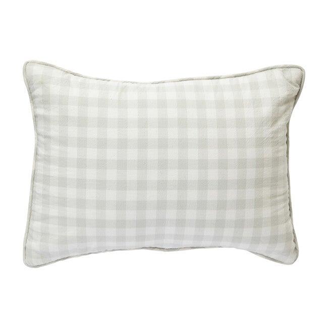 Check Mate Nursery Pillow, Fog