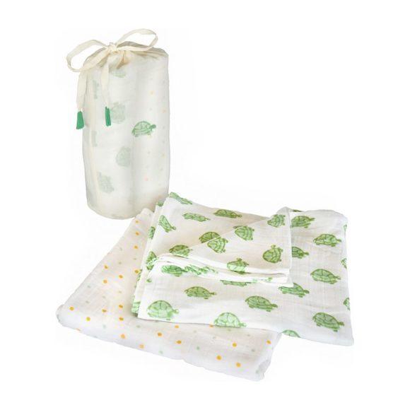 Green Turtle Swaddle Set