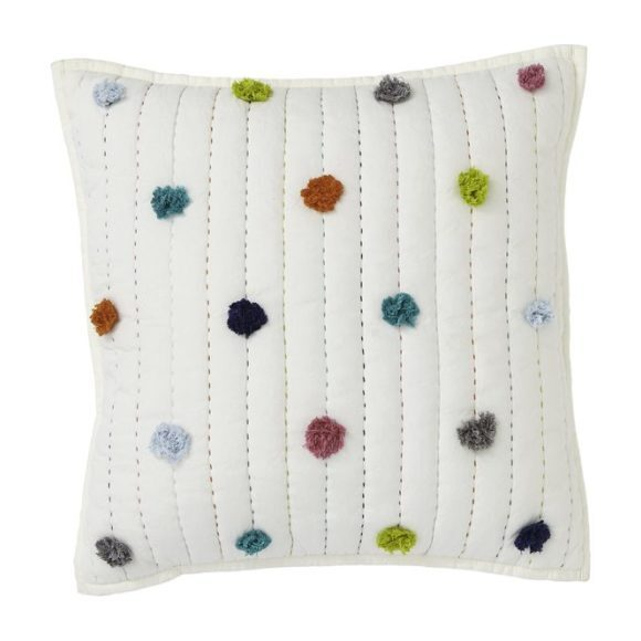 Pom Pom Decorative Sham, Multi - Decorative Pillows - 1