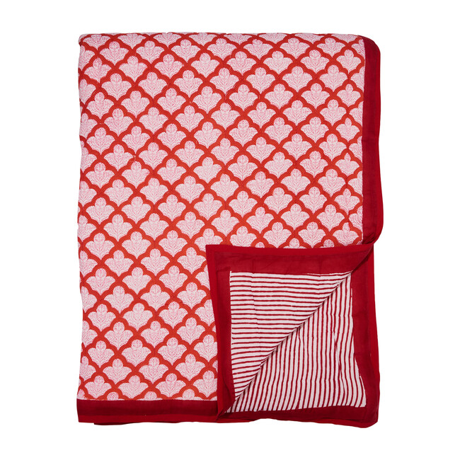 Jemina Quilt, Red - Quilts - 0