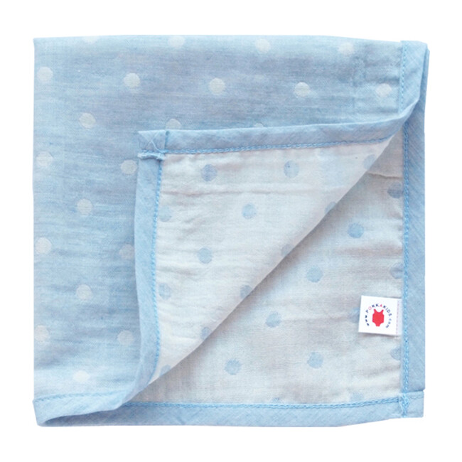 100% GOTS-Certified Organic Cotton Hanky, Turquoise