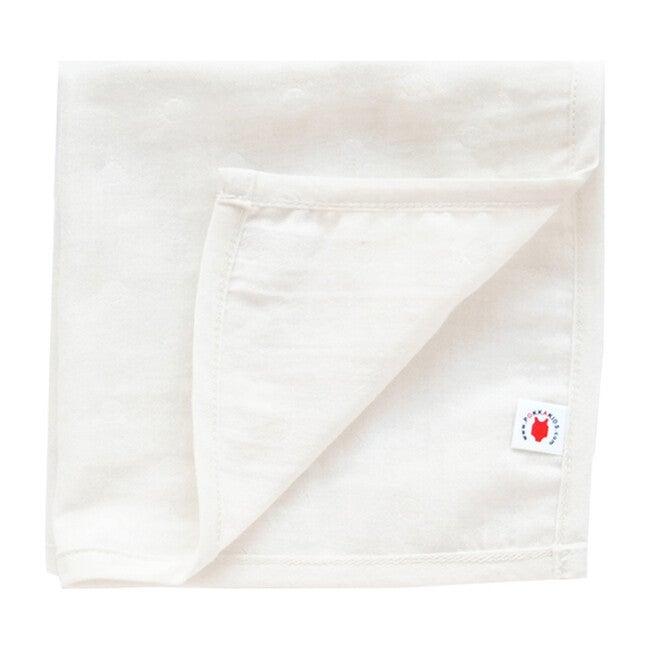 100% GOTS-Certified Organic Cotton Hanky, Pearl