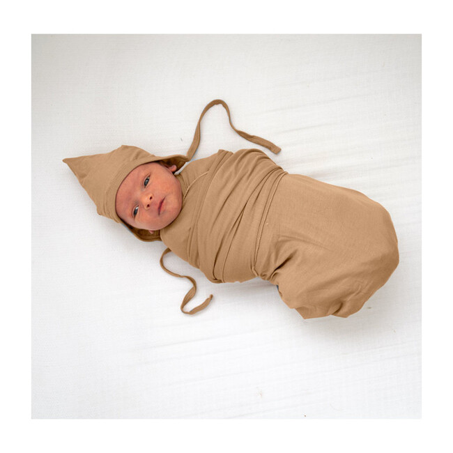 Bamboo Swaddle Blanket, Clay
