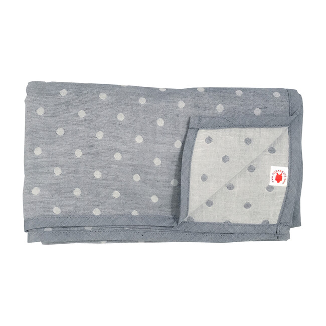 100% GOTS-Certified Organic Cotton Blanket, Charcoal
