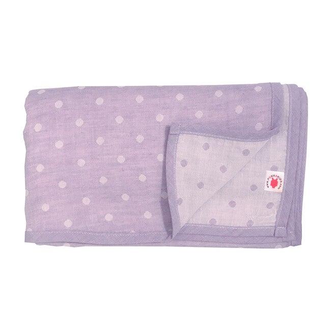 100% GOTS-Certified Organic Cotton Blanket, Grape
