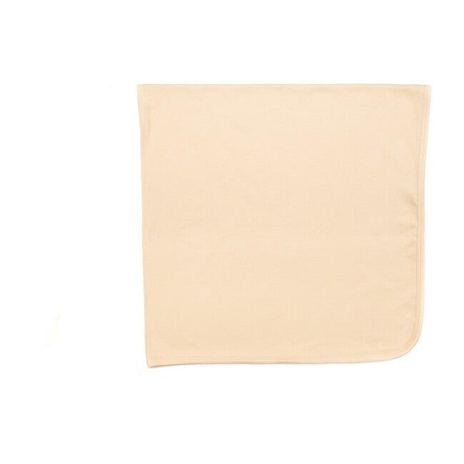 Organic Ribbed Blanket, Sand