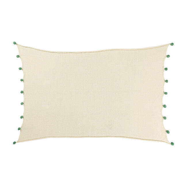 Bubbly Baby Blanket, Natural/Green - Blankets - 1