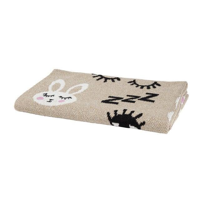 Bunny Baby Blanket, Oatmeal