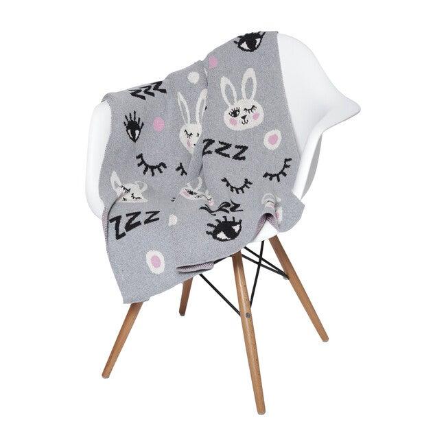 Bunny Baby Blanket, Aluminum